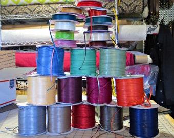 """1/8"""" double face satin ribbon bulk rolls - destash - skinny ribbon, multi color ribbon"""