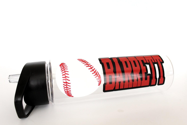 Personalized Water Bottle, Baseball Water Bottle, Baseball Gift ...