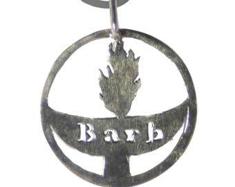 Pendant- Unitarian Universalist (UU) Custom Name Chalice silver
