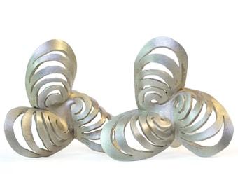 Ripples Sterling Pinwheel Earrings