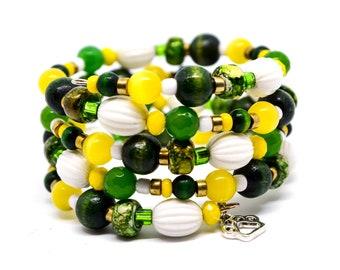 Bracelet MARGHERITA daisy Easter gift tourmalinemacram\u00e9.