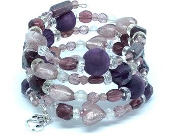 PURPLE FLOYD Coil Beaded Bracelet by Beading Divas fundraiser