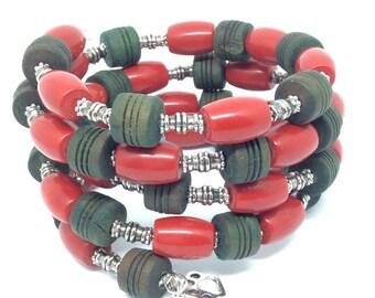 ROASTED CHILIS Coil Beaded Bracelet by Beading Divas fundraiser