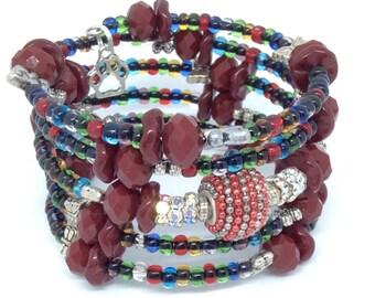 INSPIRATION Coil Beaded Bracelet by Beading Divas fundraiser
