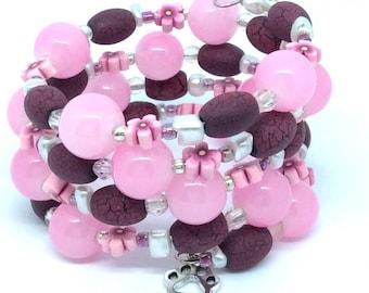 HEY GIRLIE!  Coil Beaded Bracelet by Beading Divas fundraiser