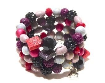 BLACKBERRY PIE  Coil Beaded Bracelet by Beading Divas fundraiser