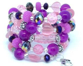 DISCO MANIA Coil Beaded Bracelet by Beading Divas fundraiser