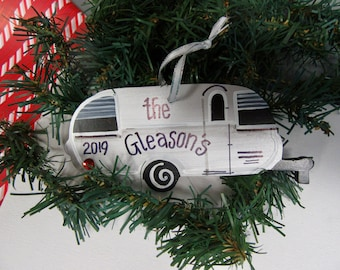 Airstream camper ornament Airstream personalized and dated just for you