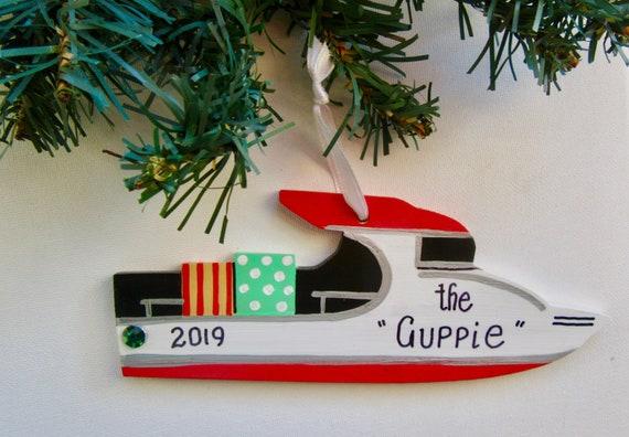 Personalized Trawler Ornament Trawler Boat Gift