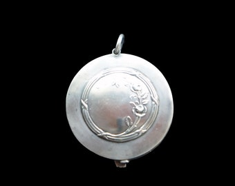Slider Pendant French Rose 800 Silver Mirror Locket