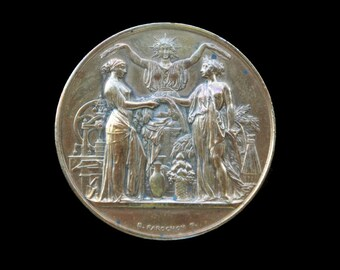 Antique French Bronze Neoclassical Medal