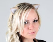 Cat Ears - 208 Color Combos - for Cosplay, Festivals, Fun Parties, Clubbing, Cons, Photoshoot Props, Kitten Halloween Costume, Cute Dress Up