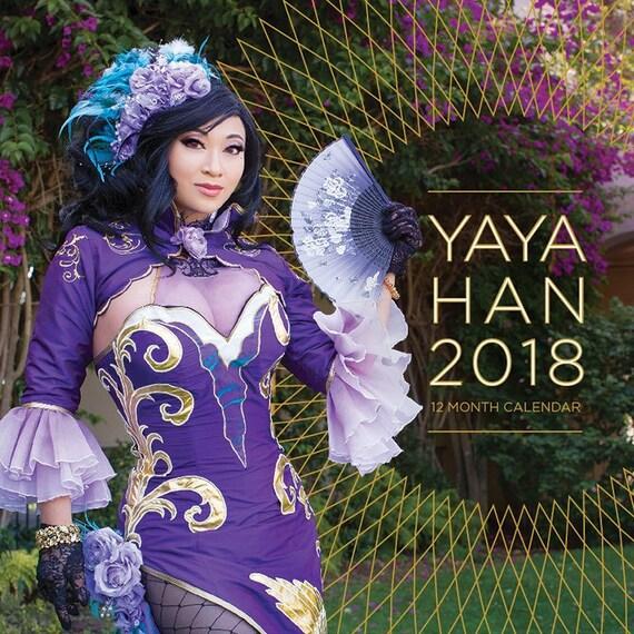 2018 Yaya Han Kalender mit Autogramm schenken Sie
