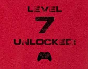 Level [#] Unlocked! Birthday Kid's T-shirt