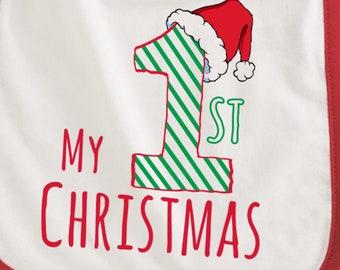 My 1st Christmas bib