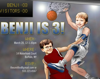 Basketball Star Birthday Invitation > Printed for you or Digital download