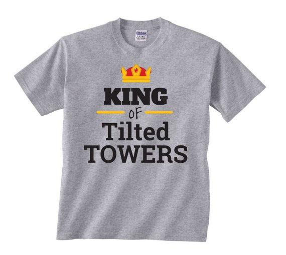 Tilted t shirt,Children/'s Tilted Towers t shirt  Black//yellow