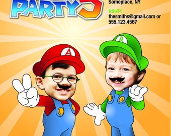 Super Mario Bros. Birthday Invitation > Printed for you or Digital download