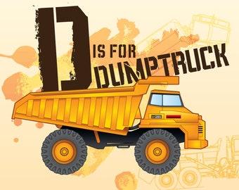 D is for Dumptruck print