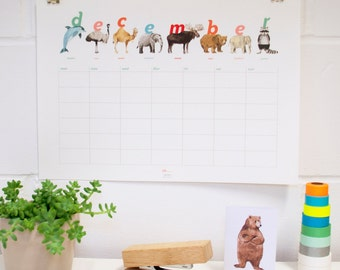Any Year Animal Calendar