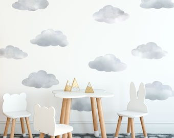 Cloud Wall Decals Etsy