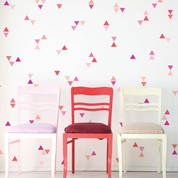 """96 of 3/"""" Hot Pink Triangle Removable Peel /& Stick DIY Wall Vinyl Decal Sticker"""