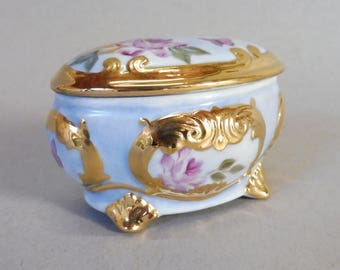 Pink and Yellow Rose Ring Box
