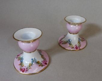 Pink Garland Candle Holder Set