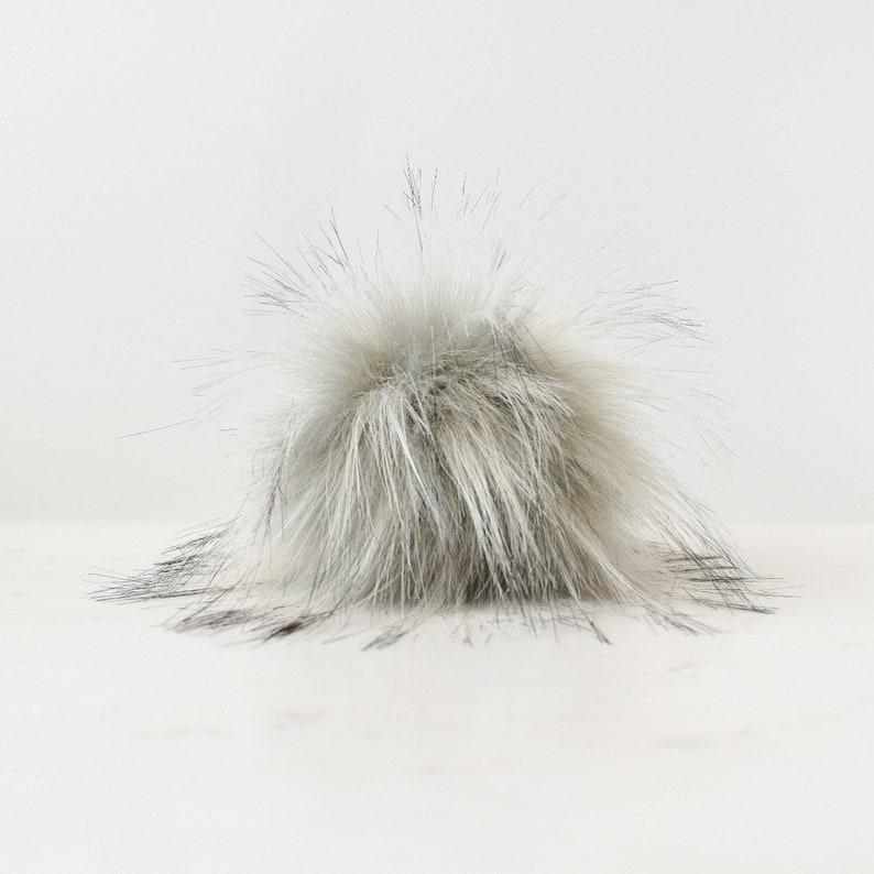 Neutral Toned Faux Fur Pom Poms in Diameter 10cm 4\u201d