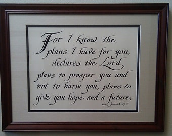 Hand Penned Calligraphy - Scripture