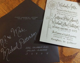 Hand Penned Calligraphy Envelope Addressing