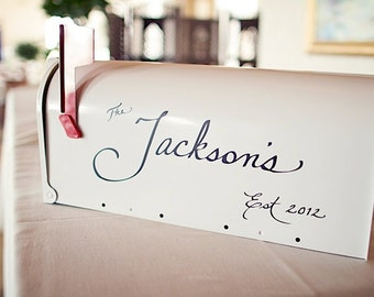 Calligraphy Decal for Mailbox