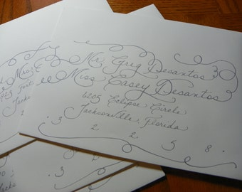 Custom Hand Penned Calligraphy - Brittany Font