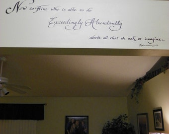 Hand Calligraphy - Custom Decal for your walls