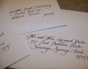 Custom Hand Penned Calligraphy - Linda Font
