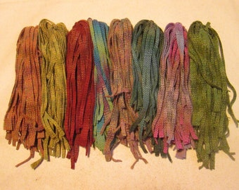 200 #6 Eight Beautiful Ombres Rug hooking or punch needle wool fabric strips