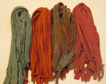 100 #8 Primitive Fruit Bowl Mix Rug hooking or punch needle wool fabric strips