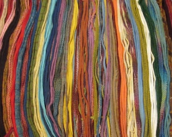 200 #4  Multiple Colors Mix  Rug Hooking or Punch Needle Hooking Wool Fabric Strips
