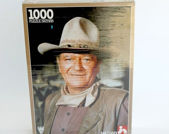 Vintage John Wayne Puzzle Made in France 1986 Unused Western Movie Memorabilia Collectible Gift for Him Fathers Day