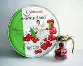 Vintage Goldman's Wonderland Cherry Tin