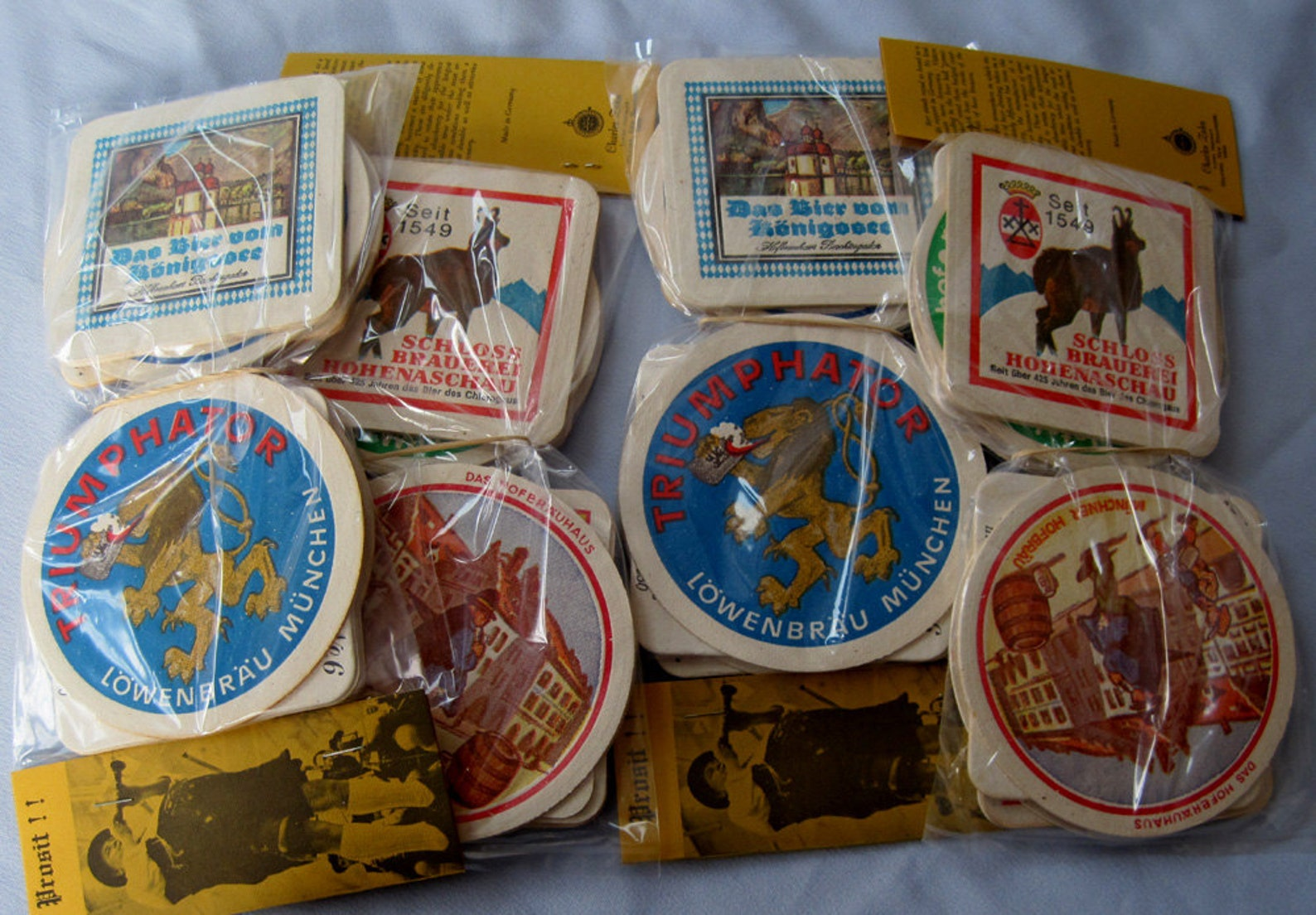 Vintage German Beer Coasters Brewery Lowenbrau Lot 48
