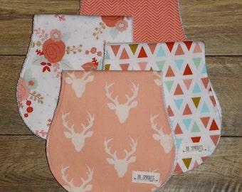 Burp Cloths Baby Shower Gift Baby Gift Baby Burp Cloth Set Burp Cloths Girl Burp Rags New Baby Gift Burp Clothes Organic Burp Cloths Baby