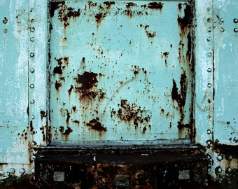 Rustic Train - Natalie Starnes photography, train, rust, Midwest, metal, turquoise