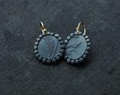 Keepsake Mother of Thousand Fern & Vine earrings
