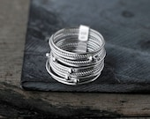 Galactical 12 Silver Stack rings