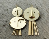 Trio Connections gold-plated Satin earrings