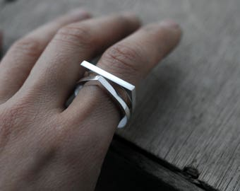 Thick Silvery Adam or Eve ring