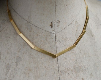 8 Golden Steps necklace