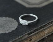 Silver Fern Signet Chevaliere ring