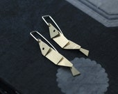Articulated Fish in 18kt gold-plated Earrings